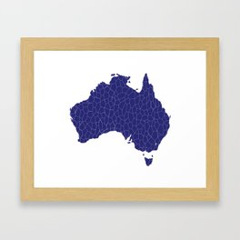 Australia Map Mosaic Framed Art Print