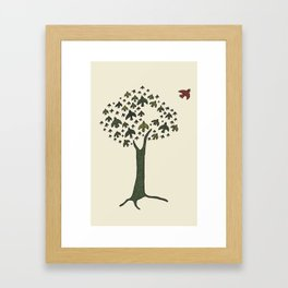 The Bird Tree Framed Art Print