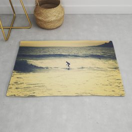 Surf  photography in Cannes French Riveria Rug