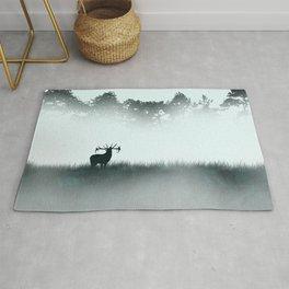 The male deer - minimalist landscape Rug