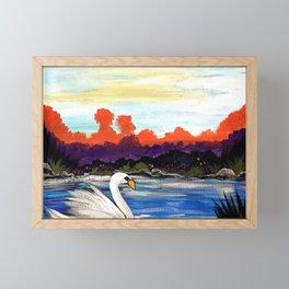 Swan Life Framed Mini Art Print