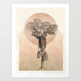 Palm Sunrise Art Print