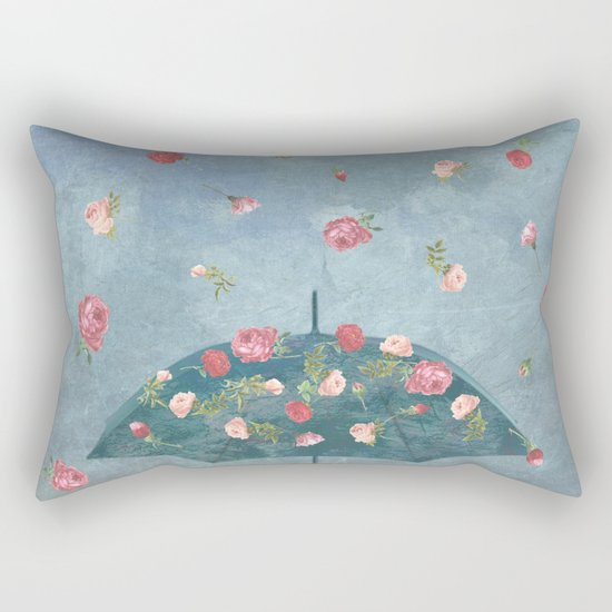 I Wished for a Rose Rain for You Rectangular Pillow