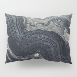 Dark Gray Marble Pattern Pillow Sham