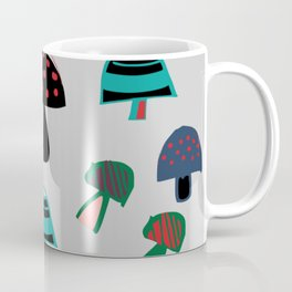 Cute Mushroom gray Coffee Mug