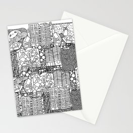 Doodle and the city Stationery Cards
