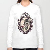 wine Long Sleeve T-shirts featuring Wine Lovers by AKIKO