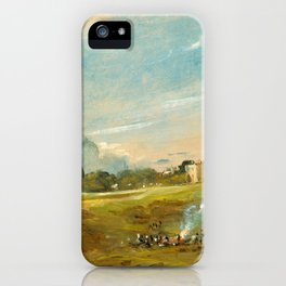 "John Constable ""Hampstead Heath, with a Bonfire"" iPhone Case"