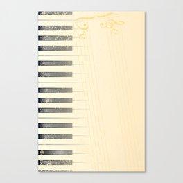 Antique Piano Background Canvas Print
