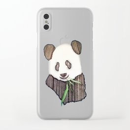Panda Zen Clear iPhone Case