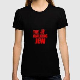 The Walking Jew Funny Jewish Israeli Inspiring Walk Pun Design Gift Cool Humor T-shirt
