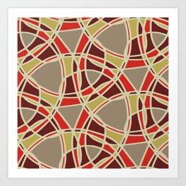 Spiral Mosaic Orange Art Print