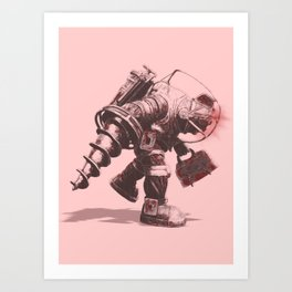 Daddy's Coming Home (Red) Art Print