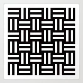Geometric Pattern #35 (rail fence) Art Print