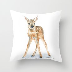 Deer Fawn Throw Pillow