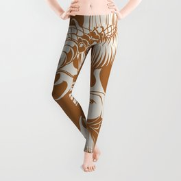 Asian carps | Japanese fine traditional art. Leggings