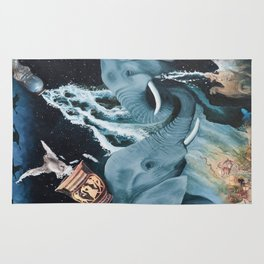 Aquarius- The Zodiac Wildlife  Series Rug