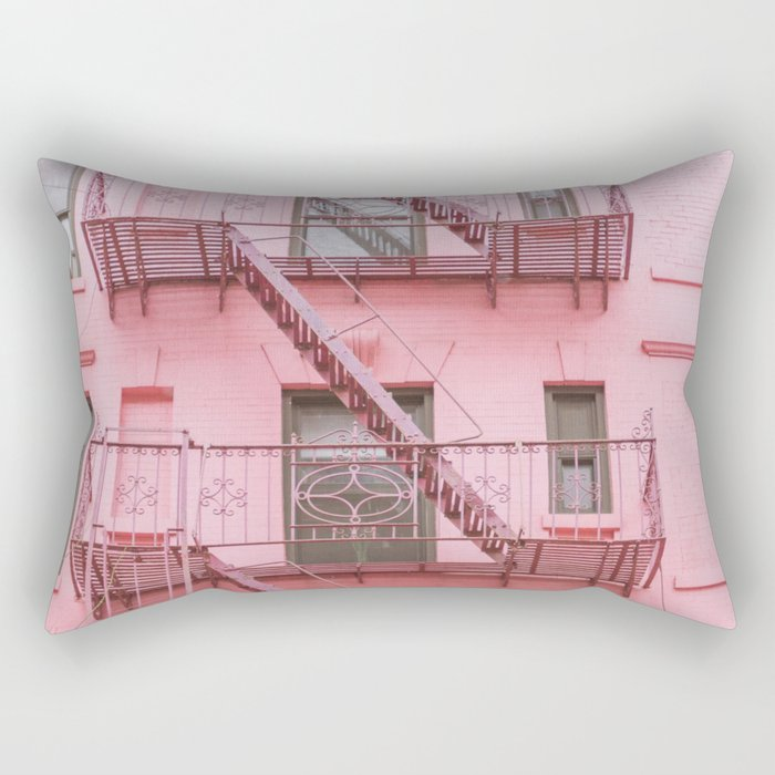 Pink Soho NYC Rectangular Pillow