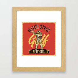 Outer Space Golf Championship Framed Art Print