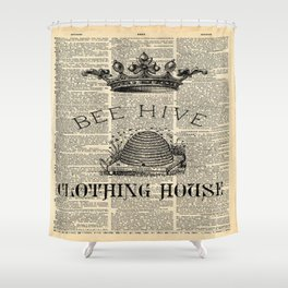 western country garden farmhouse beekeeper honey bumble bee hive Shower Curtain