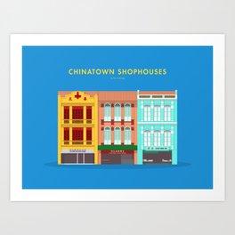 Chinatown Shophouses, Singapore [Building Singapore] Art Print