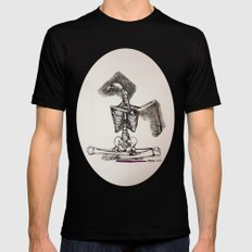 Mixed Media Drawing : Metamorphic Transition 1  MEDIUM Black Mens Fitted Tee