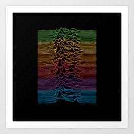 Joy Division - Unknown Apple Pleasures Art Print