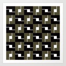 B/W Box pattern Art Print