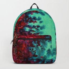 Scarlet Rose Watercolor Pattern Backpack