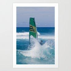 Hookipa Windsurfing North Shore Maui Hawaii Art Print
