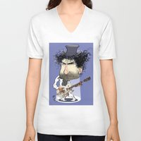 bob dylan V-neck T-shirts featuring Bob Dylan by drawgood