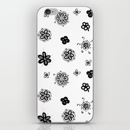 flowers on white background iPhone Skin