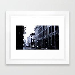 Street - Blue Framed Art Print