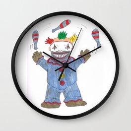Creepy Twisty Clown Wall Clock