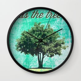 Roots of the Tree Wall Clock