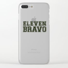 11 Bravo - US Infantry design - U.S. Military products Clear iPhone Case