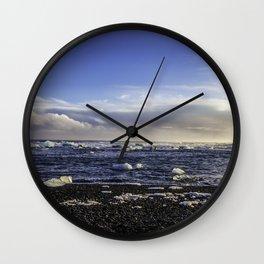 Jokulsarlon Lagoon Beach 08  Wall Clock
