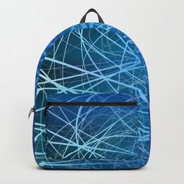 Cyan Linear Explosion Backpack