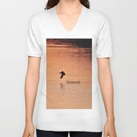 not all who wander V-neck T-shirts featuring Wander by Nonna Originals