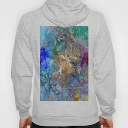 Galaxy, abstract, gold accent Hoody