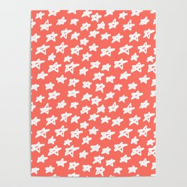Stars Living Coral Poster