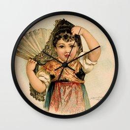 Spanish Girl Maud Humphrey Wall Clock