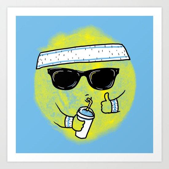 Dealin' With Summer Art Print
