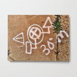 Philadelphia Spray Paint Marking Metal Print