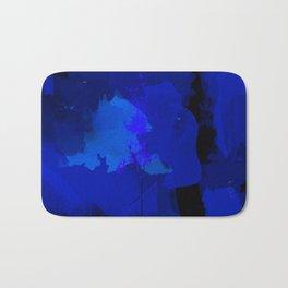 Night blue strokes Dark blue and black abstract painting B01YK Bath Mat