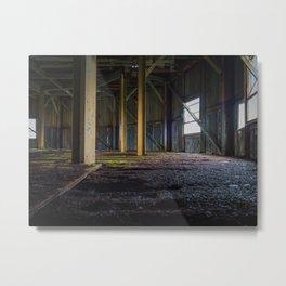Abandoned Warehouse Metal Print