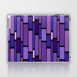 Purple Indigo Retro Blocks Laptop & iPad Skin