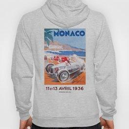 1936 Monaco Grand Prix Race Poster  Hoody