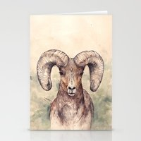 ram Stationery Cards featuring Ram by Joy Paton