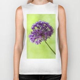 Beautiful wild garlic blossom Biker Tank